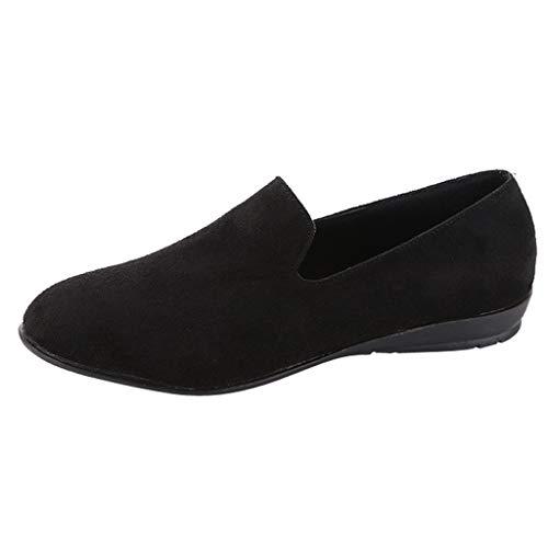 Dames slipper, ronde dop suède vrouwen slip-on, modieus, vrijetijdsschoen, dames klassieke ballerina's kant by vovotrade
