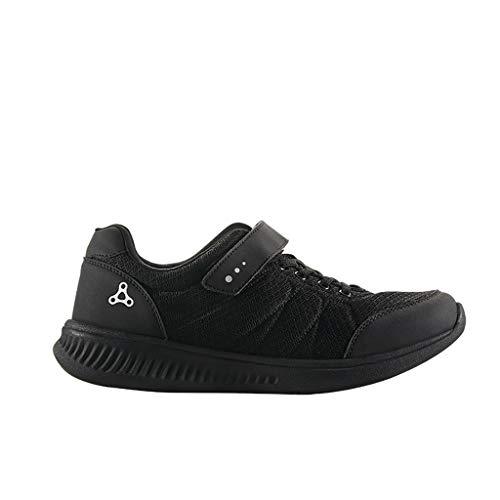 Calzado deportivo Masaje zapatos, zapatos del cuidado médico for los zapatos del cuidado médico, la terapia magnética de edad avanzada for el mundo la piedad filial de edad avanzada (negro) Los zapato