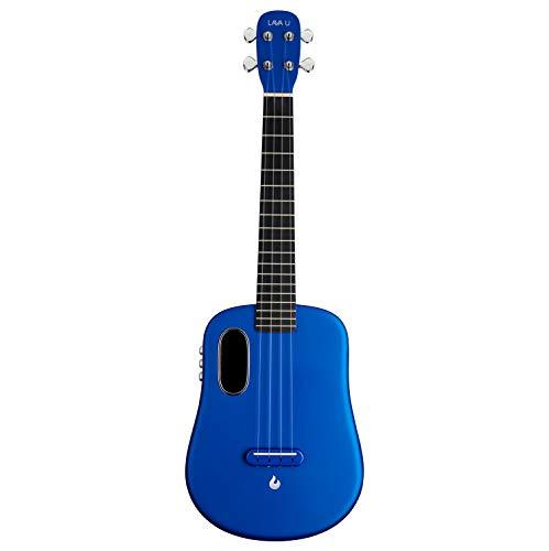 Ukulele LAVA U in fibra di carbonio con effetti ukulele da viaggio tenore con custodia e cavo di ricarica (FreeBoost, Sparkle Blue, 26 pollici)