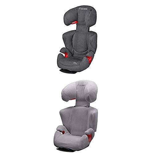 Maxi-Cosi Rodi AirProtect Kindersitz - höhenverstellbarer Autositz mit komfortabler Ruheposition, Gruppe 2/3 (15-36 kg), nutzbar ab 3,5 bis 12 Jahren, sparkling grey + Sommerbezug, cool grey