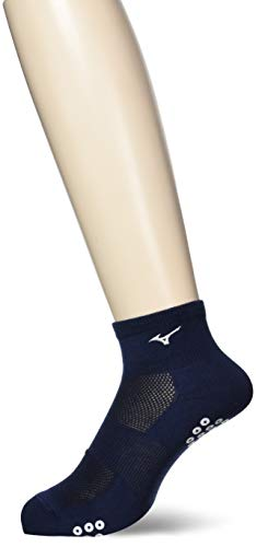 [ミズノ] 陸上ウェア ソックスショート 滑り止め付き ランニング 靴下 男女兼用 U2MX8011 14 ドレスネイビ...
