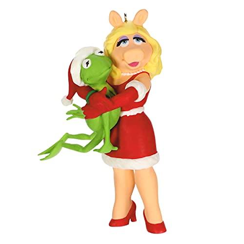 Hallmark Keepsake Christmas Ornament 2021, The Muppets Kermit and Miss Piggy Kermit's Holiday Hug