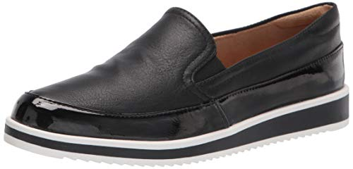 Naturalizer Women's Rome Loafer, Black Smooth, 9