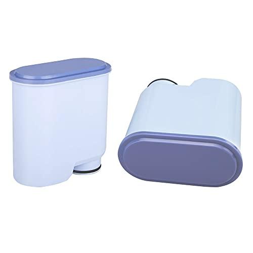 Aqua Clean Wasserfilter für Philips Kaffeevollautomaten, Filterpatrone für Saeco Kaffeemaschinen Kompatibel mit Saeco/Philips AquaClean (2er Pack)