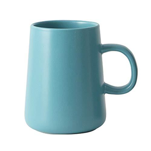 XHJLNNY XINHEJULN Kaffeetasse Tumbler Becher Keramik Kaffeetasse Rosa Nette Kaffeetasse Multicolor Geschenk Schöne Dekoration (Color : Blue)