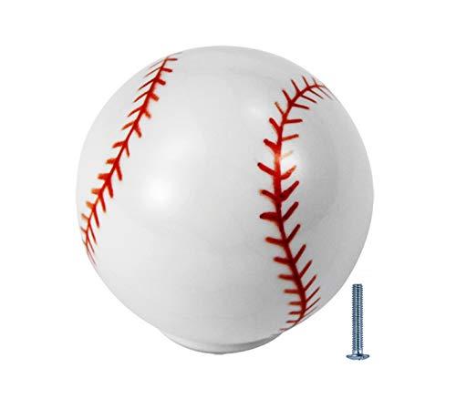 6 sztuk srebrnych gałek do szuflady chłopiec dziecko 1-1/4 cala sport komoda szafa dekoracja pokoju, baseball