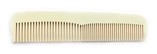 Peigne de poche précis - Environ 12,5 cm - Peigne à barbe fine - Peigne à barbe large - Blanc - acétate de cellulose