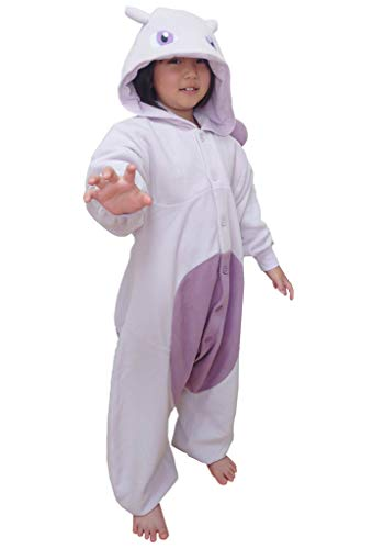 SAZAC Kigurumi - Pokemon - Mewtwo - Onesie Jumpsuit Halloween Costume -Kids Size (5-9 Year Old) Purple
