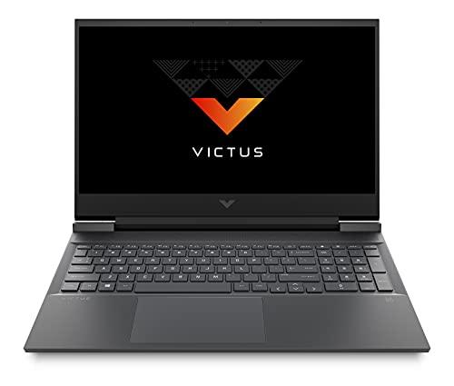 Victus by HP Ryzen 5 5600H 16.1-inch(40.9 cm) FHD Gaming Laptop (8GB RAM/512GB SSD/4GB RTX 3050 Graphics/Flicker Free Display/Windows 10/MS Office/Mica Silver/2.48 Kg), 16-e0076AX, Black