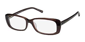 Trussardi 12702 For Ladies/Women Designer Full-Rim Shape Authentic Hand Made Acetate Eyeglasses/Eyeglass Frame  54-16-140 Brown