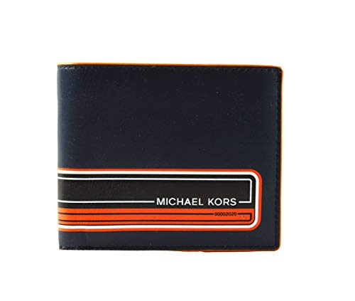 Michael Kors Billetera para Hombre Azul Marino 11.5x9.5x3cm Nuevo