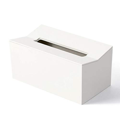 AXUHENGO Cubierta de la Caja de pañuelos de Cocina Servilletero para Toallas de Papel Caja para servilletas Dispensador de pañuelos Contenedor de Pared para toallitas Blanco