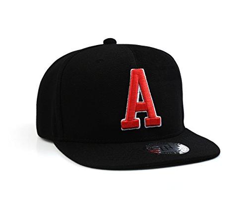 True Heads Casquette de baseball noire avec initiale A