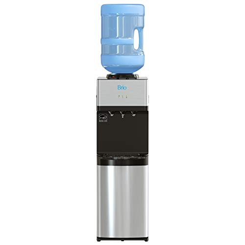Brio Limited Edition Top Loading Water Cooler Dispenser - Hot & Cold Water, Child Safety Lock, Holds 3 or 5 Gallon Bottles - UL/Energy Star Approved