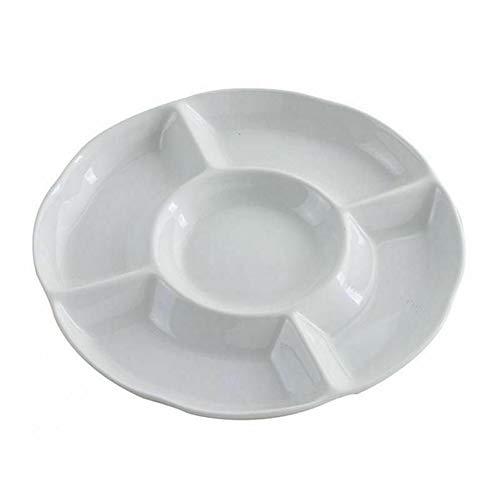 Trockenfrüchte Snacks Teller Teller Gebäck Servierplatte Lebensmittel Lagerung Tablett 5 Fach