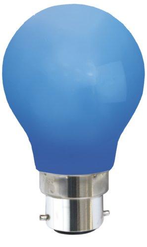 Led-bollamp, kleur: blauw.