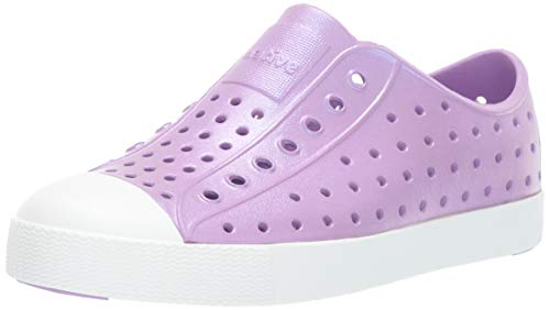 Native Shoes - Jefferson Iridescent Child, Lavender Purple/Shell White/Galaxy, C9 M US