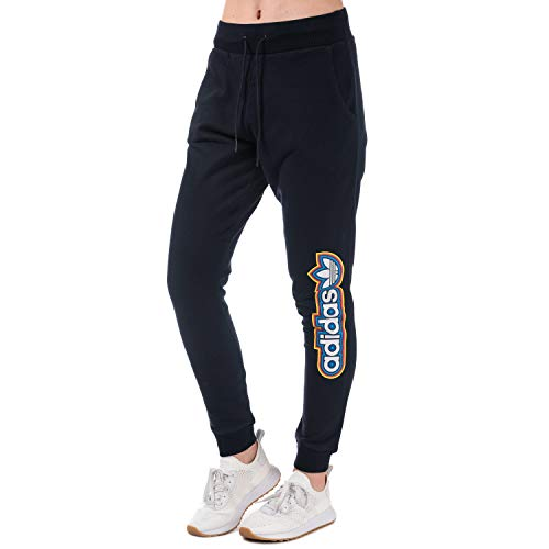 Womens Adidas Originals Baggy Track Pants in Legend Ink.