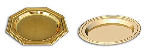 Cuisineonly mini-bord, goudkleurig, 125 stuks, diameter 8,5 cm, keuken: eenmalig gebruik (servies, servetten, wegwerp-tafelkleden)