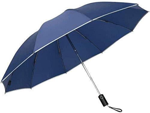 Paraguas de viaje compacto con doble toldo a prueba de viento Estructura de dosel-automático abierto / cerrar botón-gris_105x63 cm Paraguas a prueba de viento Hermoso Lightweigh Más resistente al lágr