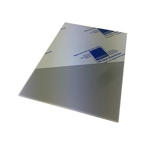 Marken Acrylglas Platte, Größe A4 oder 297x210mm, 3mm stark, Kunststoff für Modellbau, Haus und Garten, Schriftfarbe:grau
