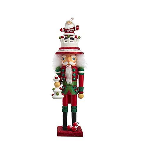 Kurt S. Adler Nutcracker with Christmas tree hat, 44 CM.