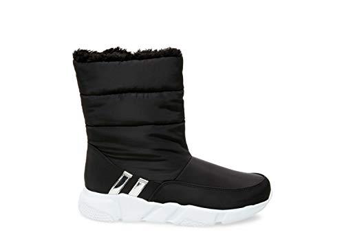 Steve Madden Women's SNOWDAY Fashion Boot, Black, 7.5 M US