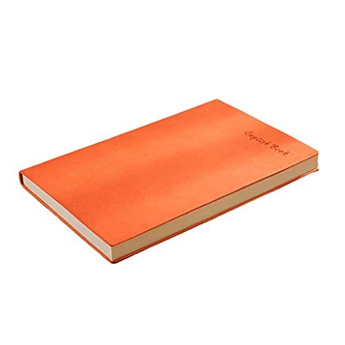 AAZZ Cuaderno Diario A5 Revistas de Cuero sintético para Escribir para Mujeres, Diario de Cuero Faux para Hombres, Escritura Diario portátil Cuadernos para Mujeres (Color : Orange)