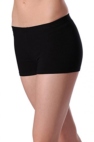 Roh Valley CTHIP Cotton/Lycra Hipster Style Shorts, Pantalones cortos para Mujer, Negro, Small (Manufacturer Size: 3)