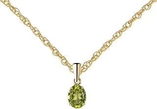 "Gift box 9ct Yellow Gold Figure of 8 Peridot pendant With 16/"" chain"