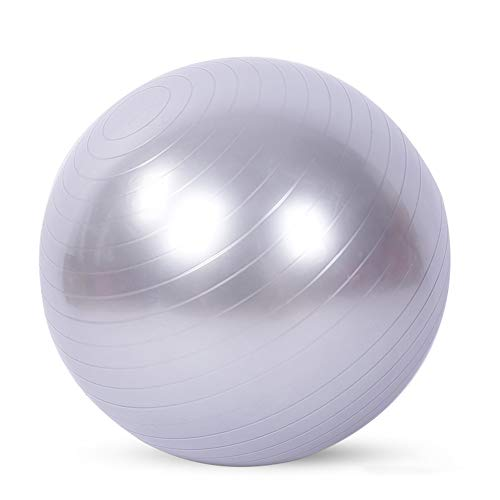 Gymnastikball (mehrere Farben), 65 Cm Gymnastikball, 2200 Pfund, Anti-burst & Extra Dick, Swiss Ball, Geburtsball Für Yoga, Pilates, Fitness, Schwangerschaft & Wehen,Silber