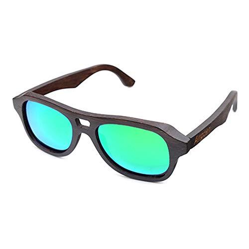 FAGavin Gafas De Sol Polarizadas Recubiertas De Bambú, Moda, Gafas De Hombre Al Aire Libre, Una Variedad De Lentes De Color con Protección UV400 (Color : Green)