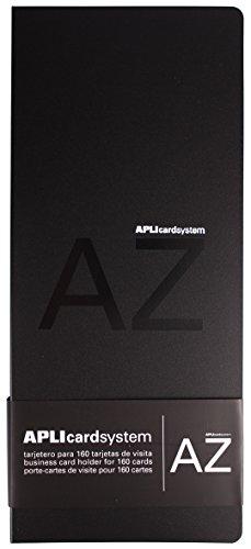 APLI 12114 - Tarjetero polipropileno negro, capacidad 160 tarjetas