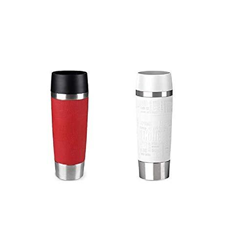 Emsa Standard-Design Travel Mugs, rot/weiß, 2 x 500ml