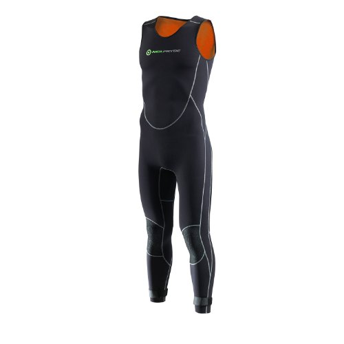 Neil Pryde Kids Junior Junior Elite Firewire 4 / 3MM Long John Wetsuit Black - Forro térmico de fácil Estiramiento
