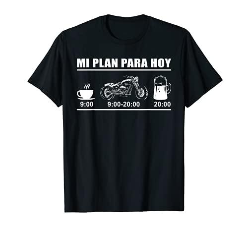 Hombre Mi Plan Para Hoy Regalo Motero Motociclismo Biker Moto Camiseta