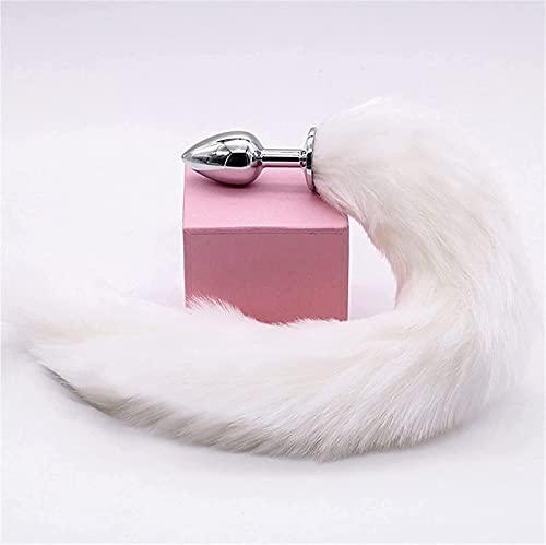 COLA DE FOX ḅU-ŧT ṗḷU-ģ Kit for mujeres Colorido Cola de peluche Cošplǎỳ Props B Halloween Funny Best regalo for pareja A-đült Men Mujer Gafas de sol Bootte York (Color: White) ( Color : White+pink )