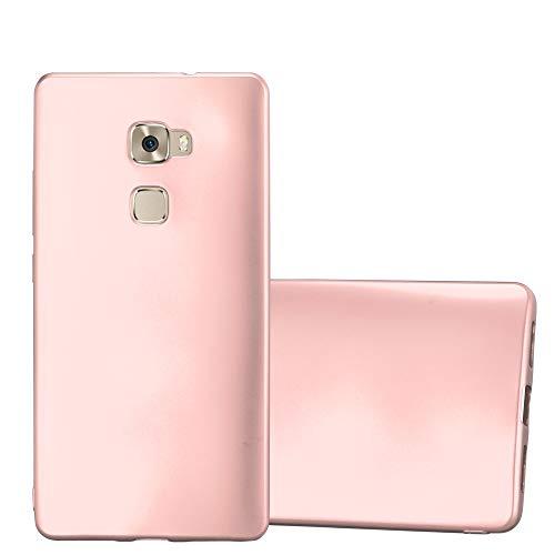 Cadorabo Hülle für Huawei Mate S - Hülle in METALLIC Rose Gold – Handyhülle aus TPU Silikon im Matt Metallic Design - Silikonhülle Schutzhülle Ultra Slim Soft Back Cover Case Bumper