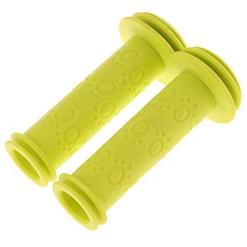 MagiDeal Kinder Fahrradgriffe 20mm Roller Lenkergriffe Kindergriffe Kinderfahrradgriffe - E-Typ Gelb