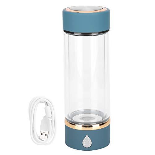 Fybida Botella de Agua de 380 ml Ionizador de Agua con hidrógeno Botella de Agua Rica en hidrógeno Máquina de hidrógeno con microelectrólisis para Acampar y Senderismo