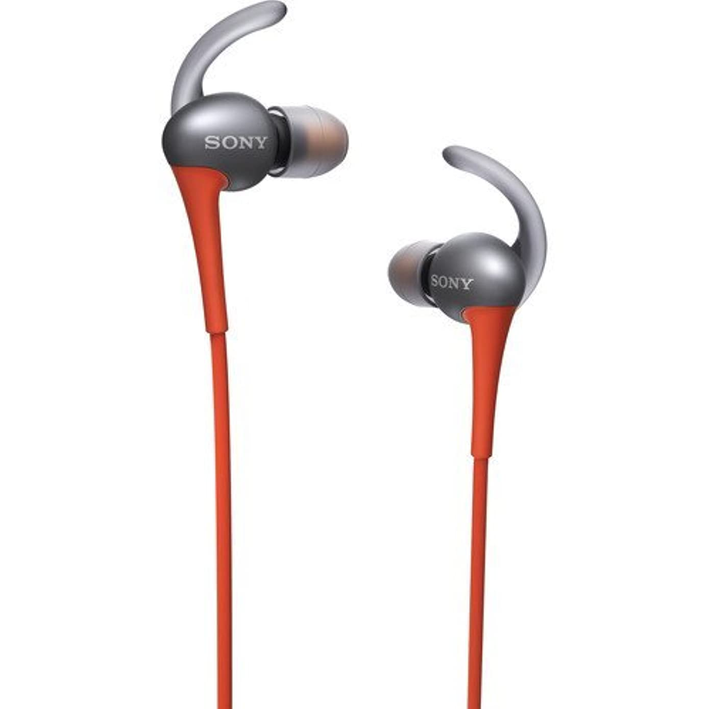 Sony Premium Active Series Lightweight Water-Resistant Extra Bass Noise-Cancelling Earbud Headphones with in-line Microphone and Remote for Apple/Android Smartphone (Orange)