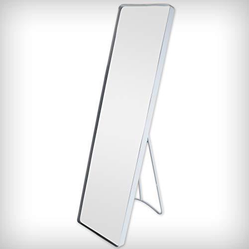 DRULINE Standspiegel Wandspiegel Garderobenspiegel Spiegel Ganzkörperspiegel Schrankspiegel Ankleidespiegel Dekoration Hängend F0015070 | 115 cm x 30,5 cm x 4 cm | Weiß