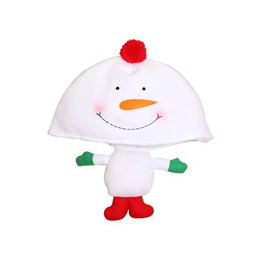 WXDP Bufanda de otoño e Invierno,Sombrero de Navidad para Festival de Eventos Tela de Tela Gruesa Muñeca de Dibujos Animados Creativa Sombreros Sombrero Decoración de Navidad Suministros de Navid