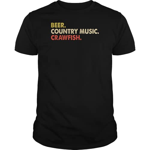 Beer Country Music Crawfish Gift Xmq Black T-Shirt S Black