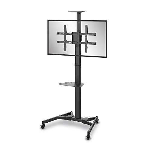conecto® LM-FS02B Professional TV-Ständer Standfuß für Flachbildschirm LCD LED Plasma höhenverstellbar 37-70 Zoll (94-178 cm, bis 50 kg Tragkraft) max. VESA 600x400mm, Stahl, schwarz