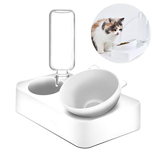 Hundenapf Futternäpfe Verstellbare Katzenform Schüssel Katze Hundenäpfe Mit Wasserflasche 2 In 1 Tiernahrung Wasserspender Tiernahrung Zubehör