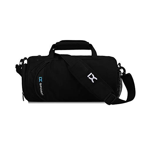 Mettime Gran capacidad multifunción, yoga, danza, natación, gimnasio, bolsa de viaje, portátil, color negro