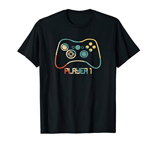 Matching Gamer tee for Dad, Mom & kids Player 1,2,3 T-Shirt