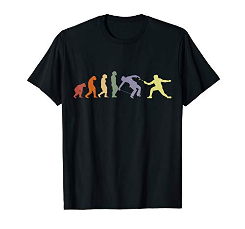 Fechten EVOLUTION Fechter Degen Florett Sport Team Fechten T-Shirt