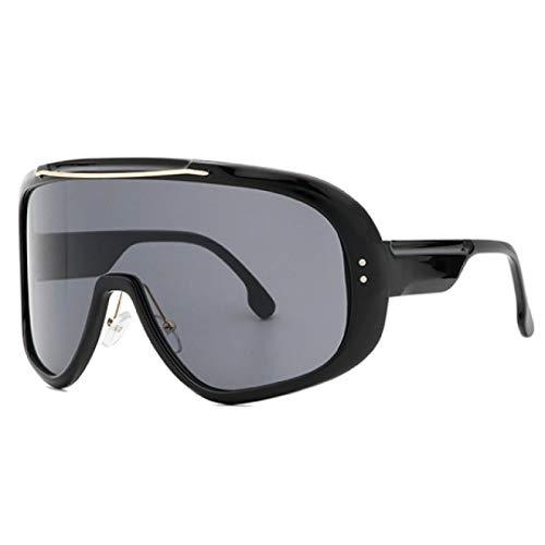 HAOMAO Gafas de Sol de Gran tamaño para Mujer con Montura Grande y gradiente cuadradas, Gafas de Sol Grandes con Parte Superior Plana, Color Negro
